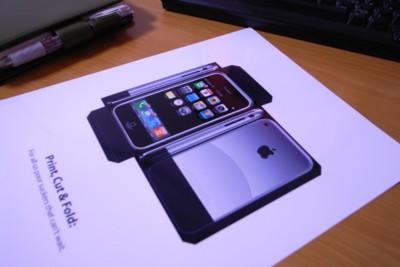iPhoneペーパークラフトの写真
