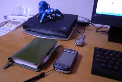 ほぼ日手帳と、X01HTと、タチコマと。