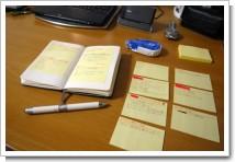 XPストーリーカードとモールスキン手帳術の写真