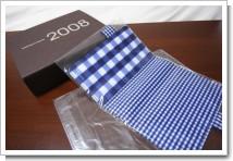 ほぼ日手帳 2008 ブルーのギンガム カバーの写真