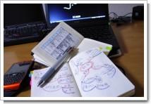 「アナログ手帳は汚く使う」の写真