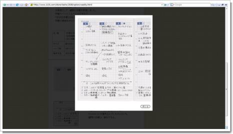 ほぼ日手帳2008 週間手帳のスクリーンショット