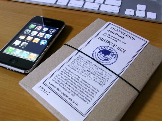 トラベラーズノート パスポートサイズの写真