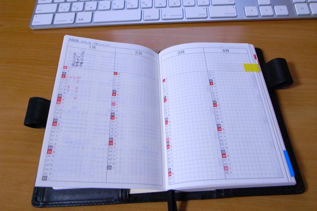 ほぼ日手帳 年間インデックスの写真
